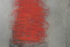 Nars-Eddine Bennacer Autodafé-technique-mixte-sur-papier-Japon-2017-237-x-160-cm