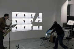 """""""station to station"""", 2016, Performance sonore à la Galerie Depardieu avec Hervé Passamar"""