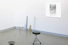 """""""Installation préparatoire à une performance sonore"""", 2014, dimensions variables, divers matériaux"""