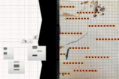 """""""N°1"""",2019, techniques mixtes 40 X 60cm, dessin réalisé par P.Richard et B.Pourrière"""