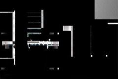 """""""Partition Noire A"""", 2019, dessin numérique 80 X 60cm"""